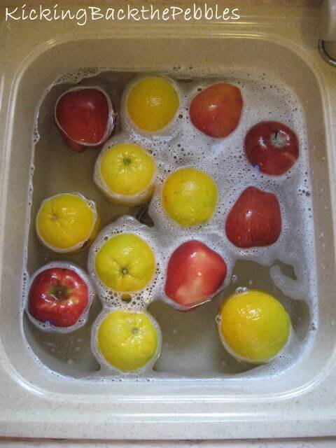 How to wash your veggies & fruit! –  Φρούτα & λαχανικά: οδηγίες προς ναυτιλομένους!