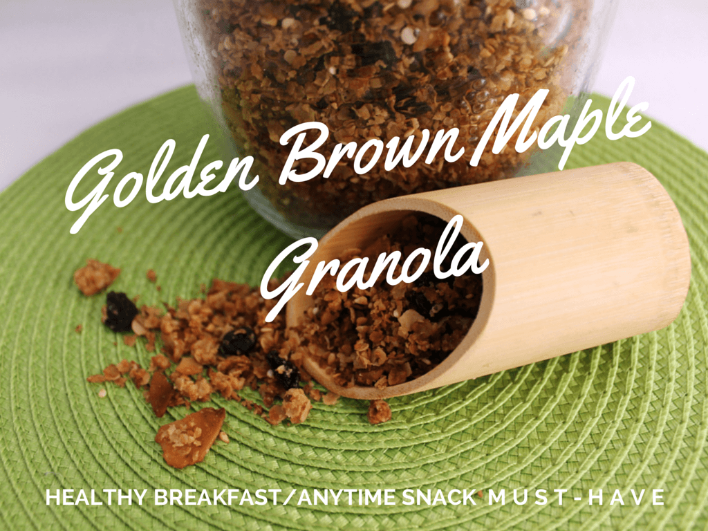 Golden Brown Maple Granola | Kicking Back the Pebbles