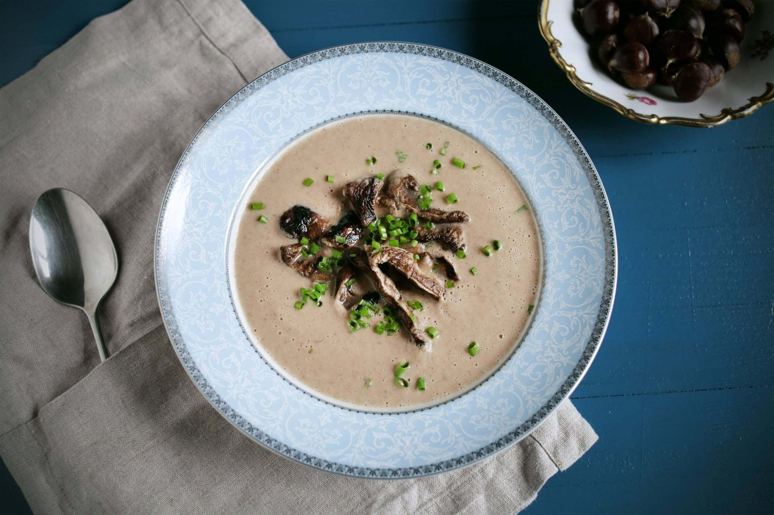 Chestnut-Mushroom Soup | Kicking Back the Pebbles