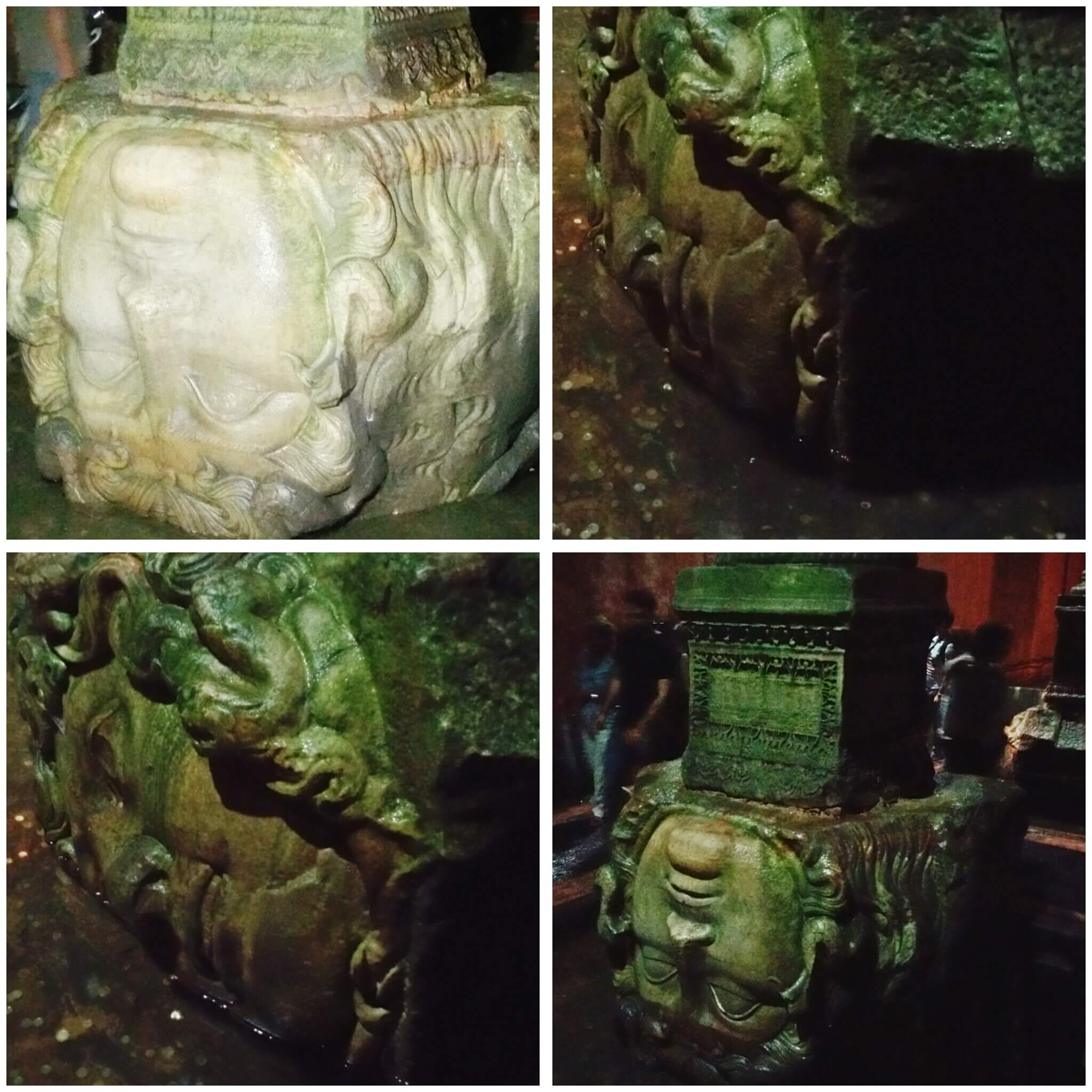 The Basilica Cistern_the Medusa columns