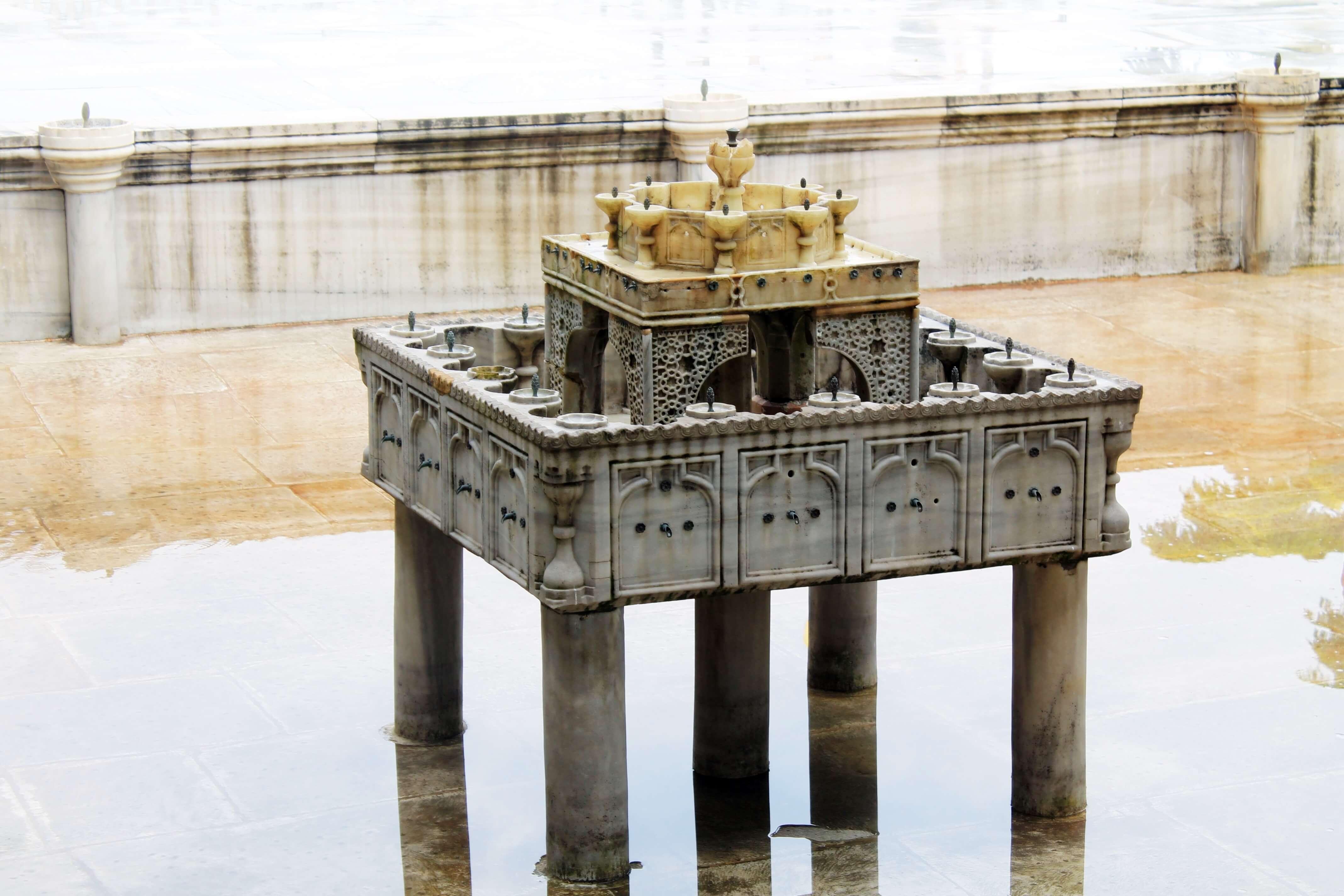 Upper Terrace Pool Fountain_Royal-Marble Hall_Topkapi 4th Courtyard