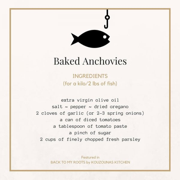 Baked Anchovies-Back to My Roots