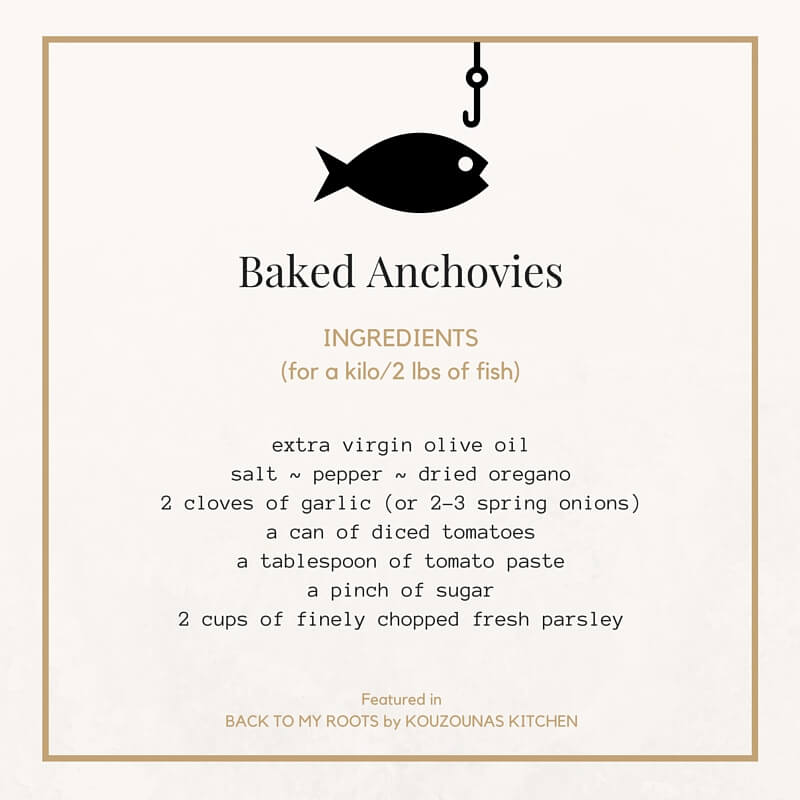 Baked Anchovies {Back to My Roots feature}