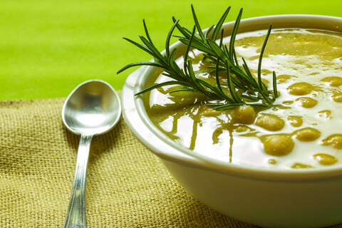 Coriander Chickpea Soup | Kicking Back the Pebbles