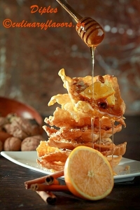 Pastry Strips with Honey Syrup @Culinary Flavors