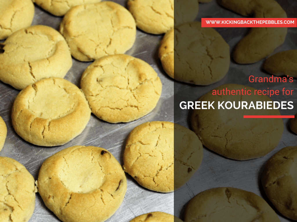 Grandma Chrysoula's Kourabiedes | Kicking Back the Pebbles