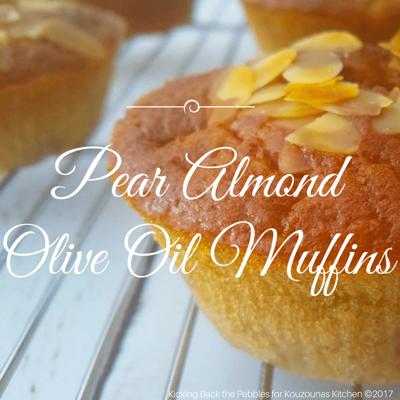 Pear Almond Olive Oil Muffins
