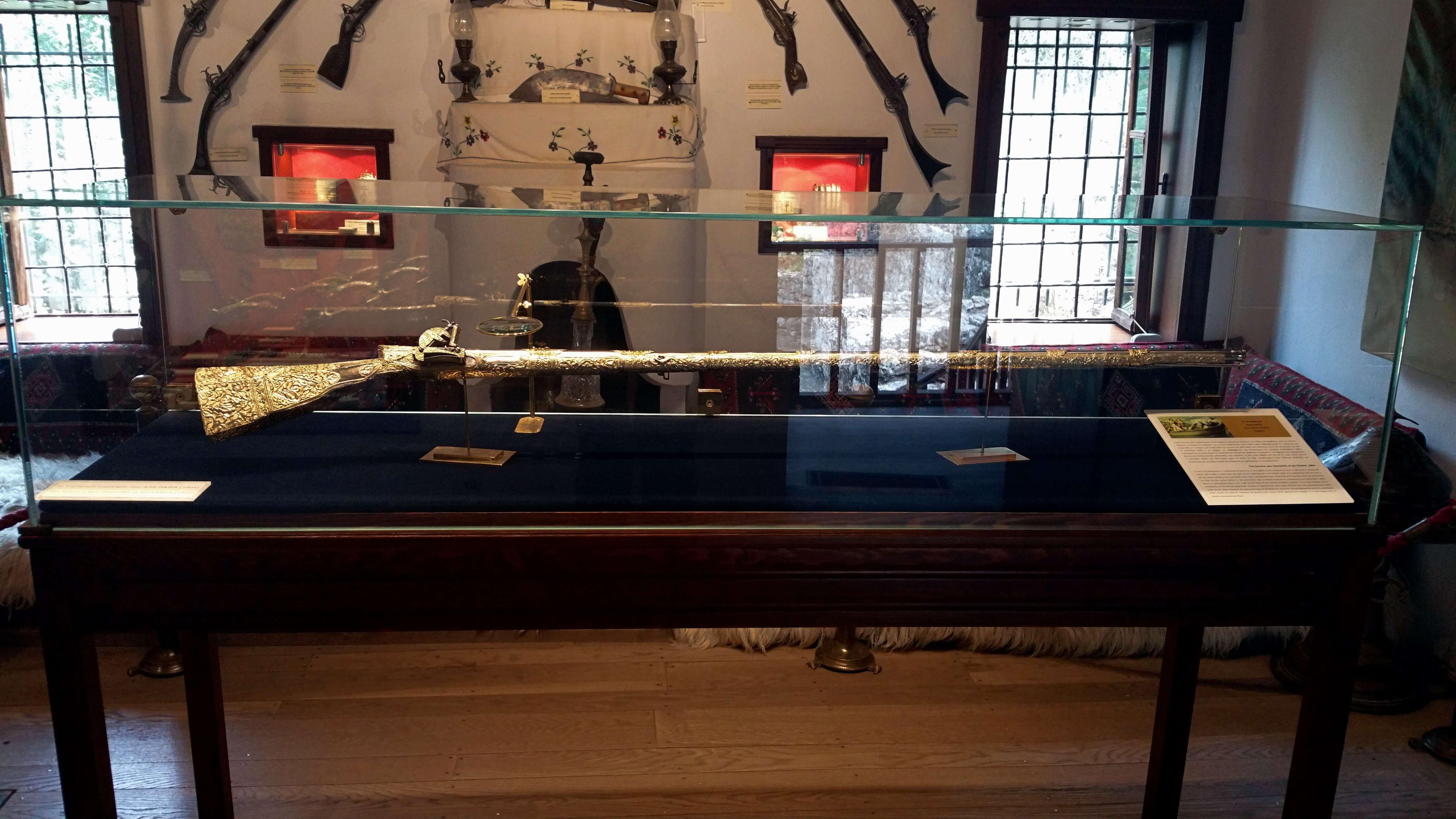 Ali Pasha's rifle - Ali Pasha Museum, Ioannina, Greece | Kicking Back the Pebbles