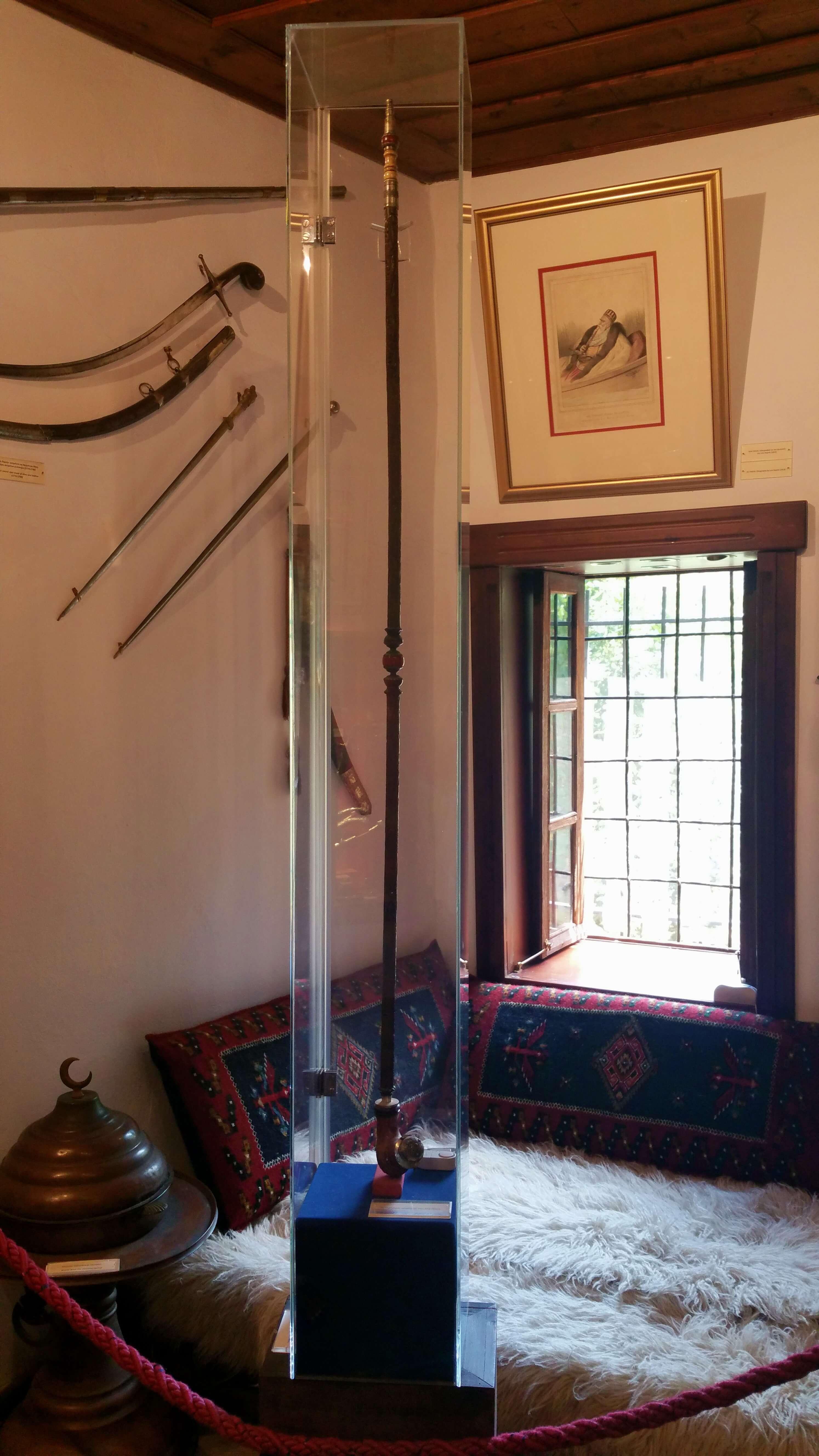 Ali Pasha's long tobacco pipe - Ioannina, Greece | Kicking Back the Pebbles