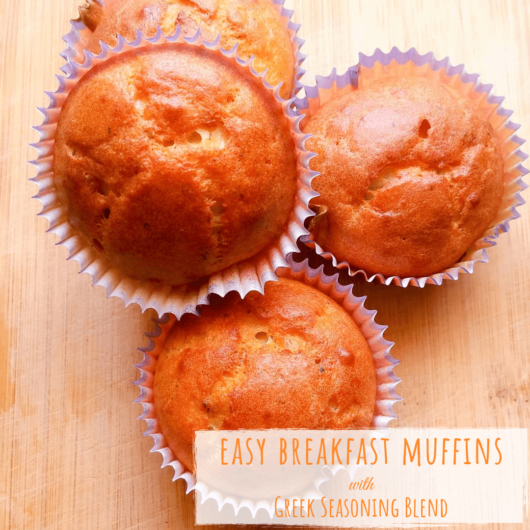 Easy Breakfast Muffins with Greek Seasoning Blend