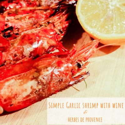 Simple Garlic Shrimp with Wine Sauce | Kicking Back the Pebbles