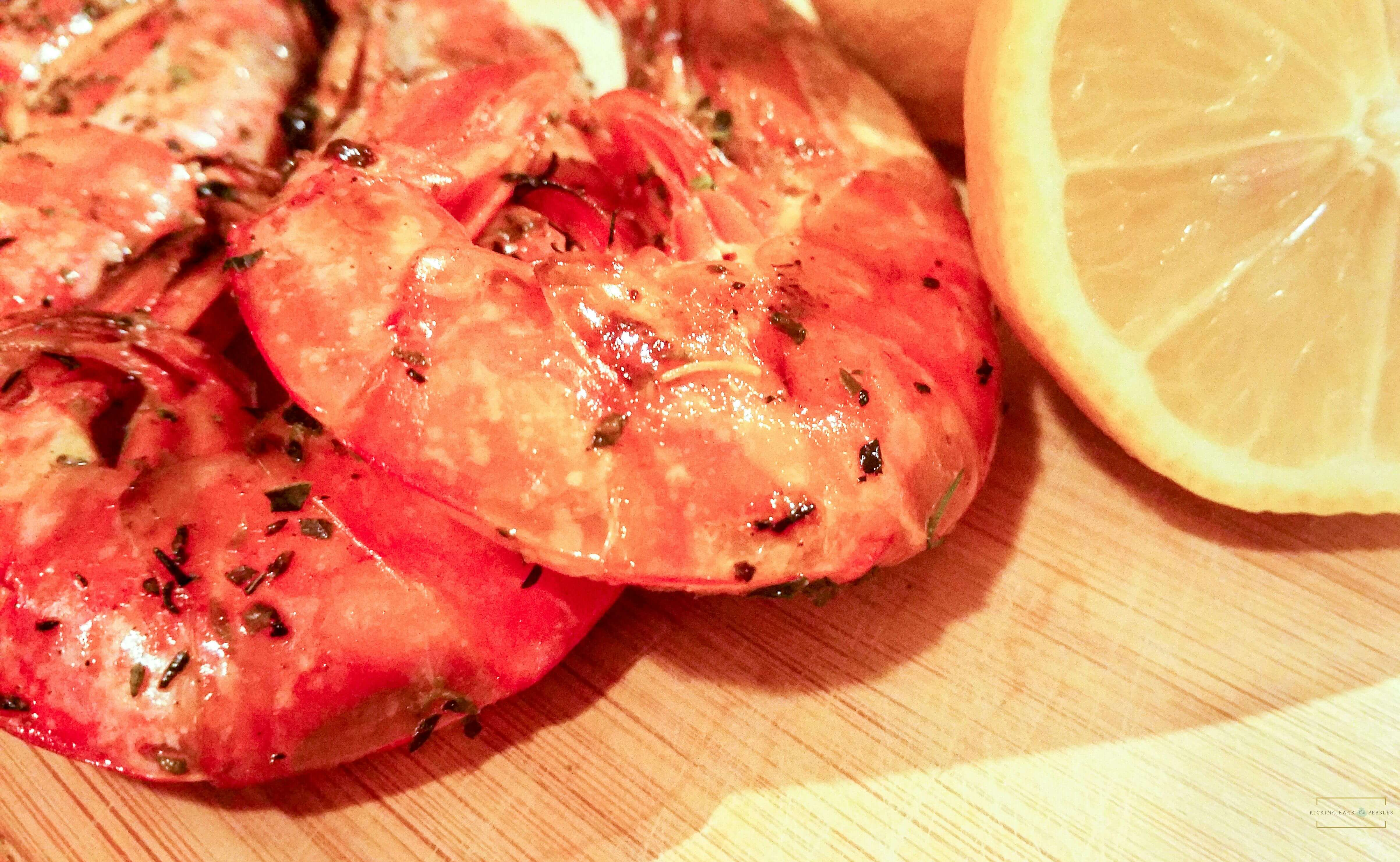 Garlic Shrimp with Herbes de Provence | Kicking Back the Pebbles